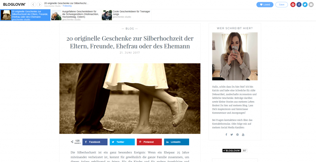 Bloglovin: Eigener Blog